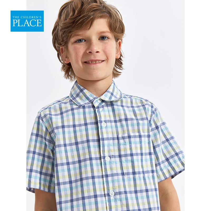 美国 The Children's Place 绮童堡 2020夏季新款 纯棉 男童短袖衬衫 天猫优惠券折后¥44包邮(¥99-55)