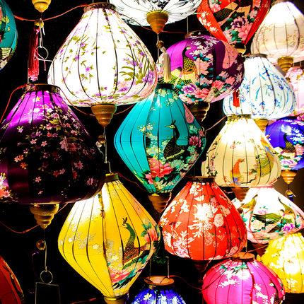 中秋节灯笼中国风传统装饰创意发光阳台中式户外古风日式led挂饰
