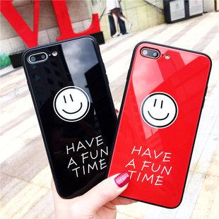 潮牌苹果x手机壳情侣创意防摔iphone8plus玻璃壳原创6s男女7p新款