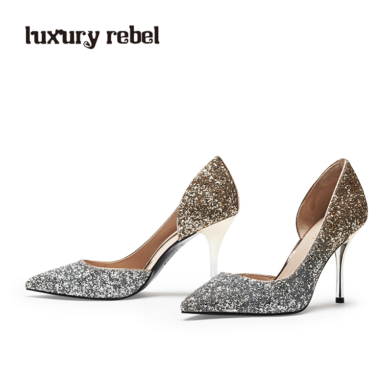 LR女鞋Luxury Rebel2018春季新款优雅高跟尖头时尚单鞋