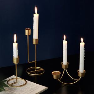 烛光晚餐道具西餐桌ins烛台摆件家用北欧浪漫欧式装饰复古蜡烛...
