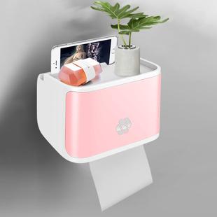 卫生间纸巾盒厕纸置物架厕所创意免打孔收纳防水卫生纸抽纸卷纸盒