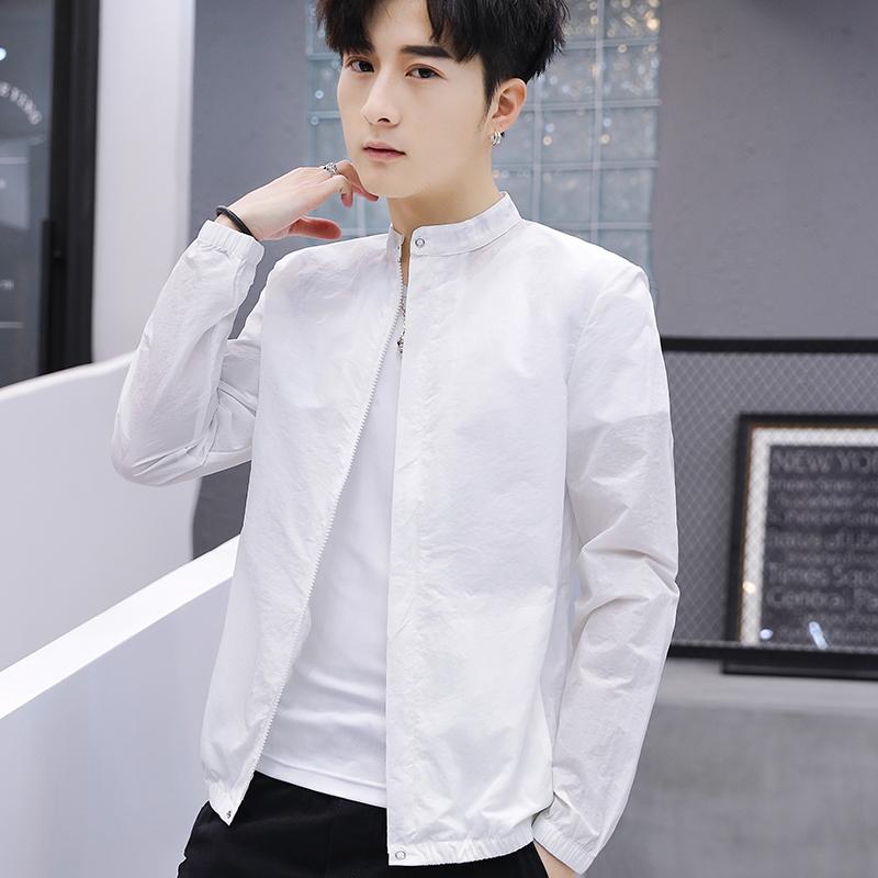 防晒衣男夏季外套韩版夹克潮流帅气青少年百搭衣服男士薄款夏天潮