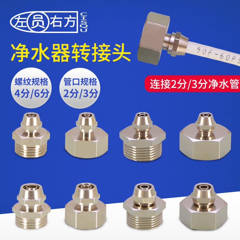 4-6分内牙转2分3分管直接铜接头净水器配件PE管外丝快拧快速接头