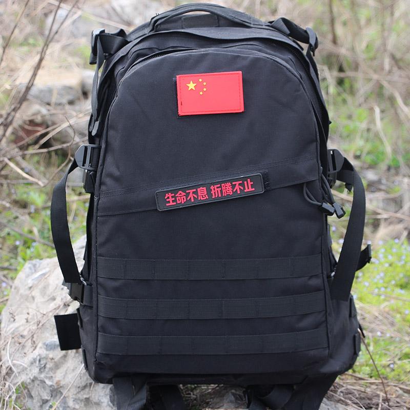狼石户外军迷用品特种兵单兵战术背包迷彩双肩包3D攻击包45L背囊