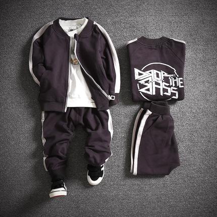 童装男童套装2017秋装新款4韩版5卫衣6外套7儿童运动两件套8潮9岁