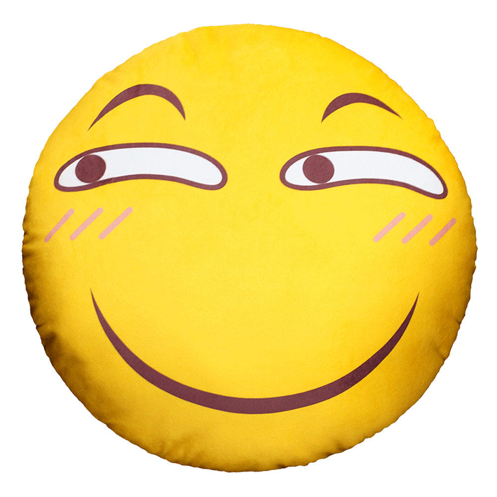 漫趣 动漫周边滑稽脸抱枕害怕微笑脸表情包靠枕装逼恶搞毛绒公仔图片