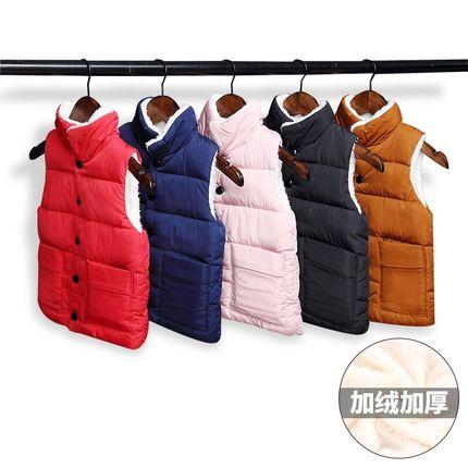 儿童马甲宝宝男童春秋冬季加厚女童韩版新款保暖羊羔绒外穿棉背心