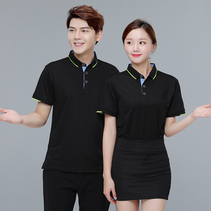 Summer business overalls T-shirt custom company staff factory clothing tooling embroidered logo male polo shirt custom