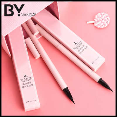 By eyeliner stylus female brown waterproof anti-perspiration not dyed non-decolorized lasting genuin...