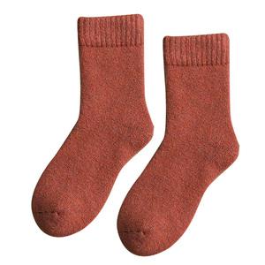 厚袜子女冬季加绒羊毛袜中筒袜加厚保暖秋冬季毛巾袜地板袜睡眠袜