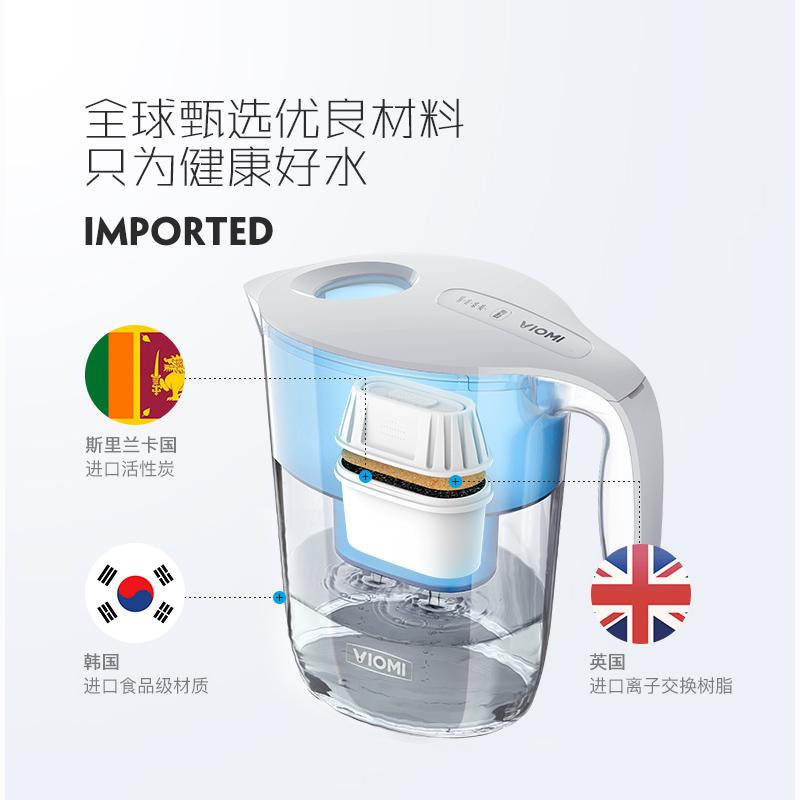 云米净水壶家用直饮台式净水机渗透过滤自来水净化水壶厨房净水器
