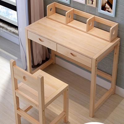 2平米 简约实木儿童学习桌升降书桌椅套装松木小学生书桌儿童课桌写字台