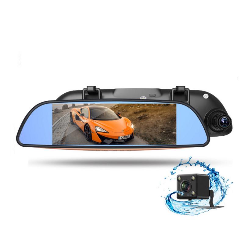 新款7寸行车记录仪电子狗测速一体机高清夜视前后双镜头倒车影像