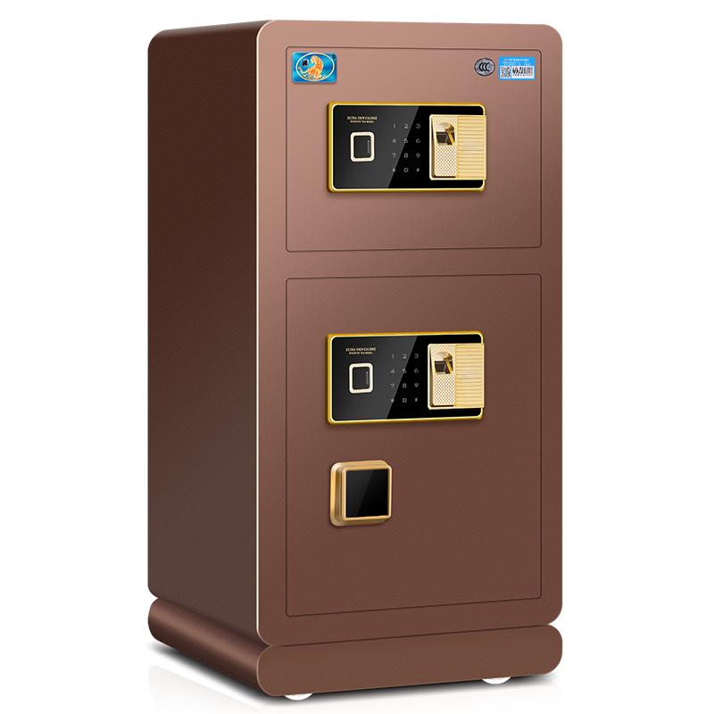 虎牌保险柜3C认证80CM 1米 1.2米高保险箱大型家用单双门指纹全钢