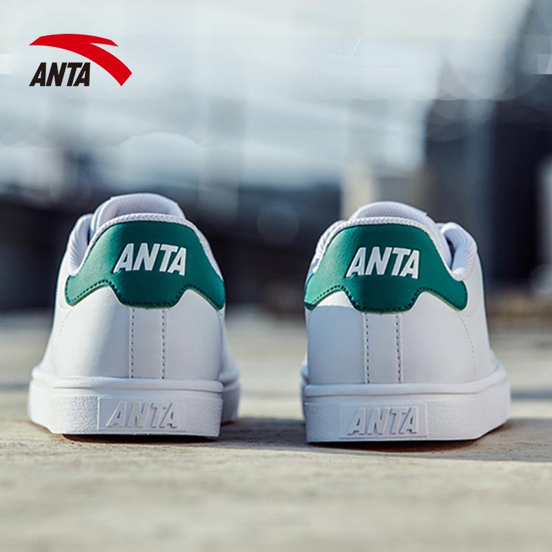安踏板鞋男鞋2018新款秋季正品绿尾休闲鞋子小白鞋滑板鞋运动鞋男