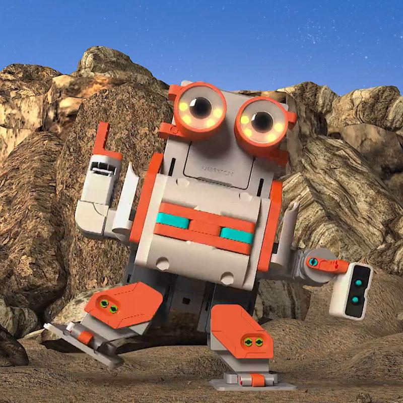 优必选星际探险拼装机器人套件组装瓦力智能小车儿童编程遥控玩具