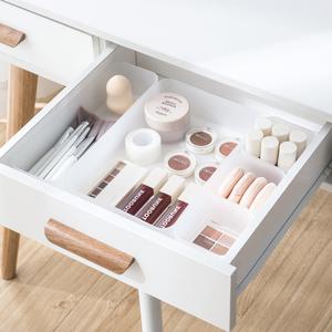 纳川抽屉整理盒分格收纳盒分隔板自由组合厨房餐具柜子整理储物格