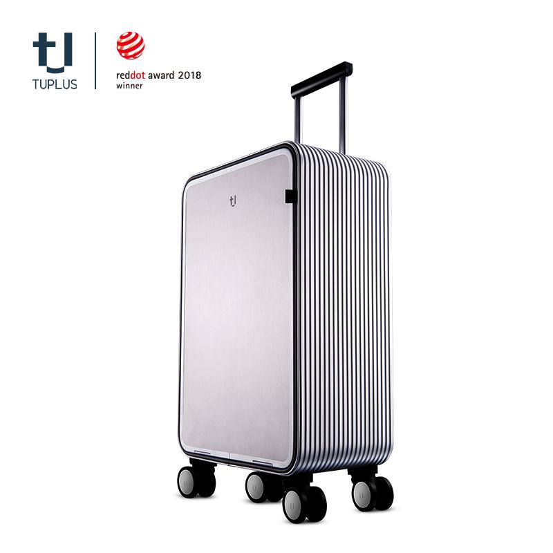 TUPLUS途加铝合金旅行箱男20寸行李箱女皮箱铝框拉杆箱商务密码箱