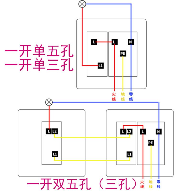 飞雕空调插座16a一开大三孔带开关面板热水器大头86型大功率家用