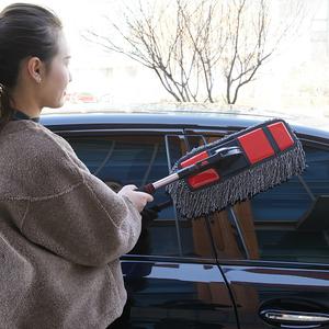 汽车蜡拖擦车拖把刷车刷子扫灰尘除尘掸子车用洗车油蜡刷软毛用品