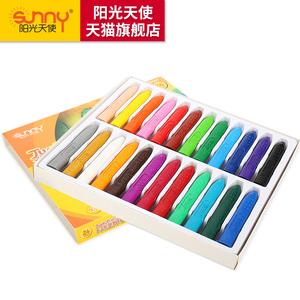 阳光天使12色/18色/24色儿童新型大三角塑料蜡笔幼儿涂鸦