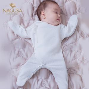 初生婴儿衣服新生儿连体衣0-3个月秋冬装男女纯棉哈衣宝宝秋冬季6