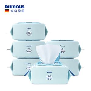 安慕斯Anmous婴儿湿巾纸新生幼儿宝宝手口屁专用湿巾80抽*6包