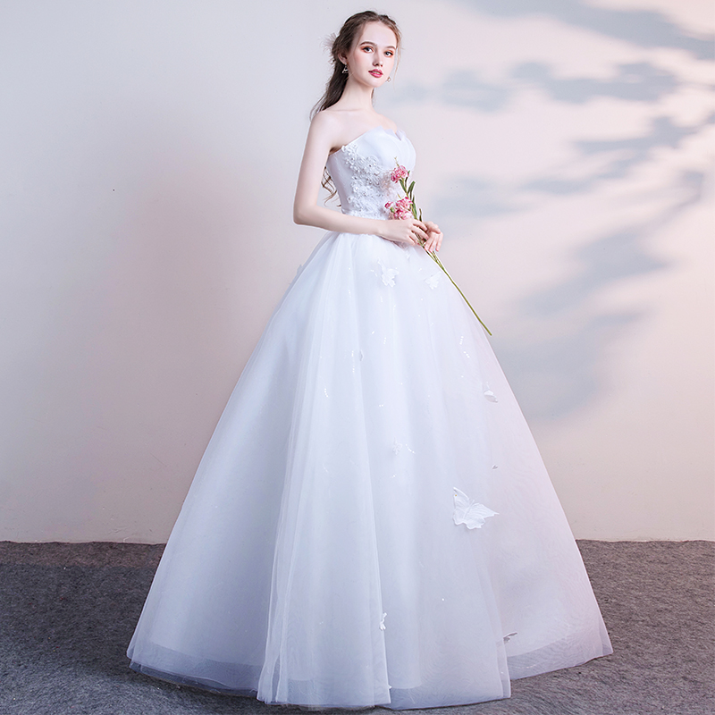 top wedding dress 2018 new summer bride small princess dream dream ...