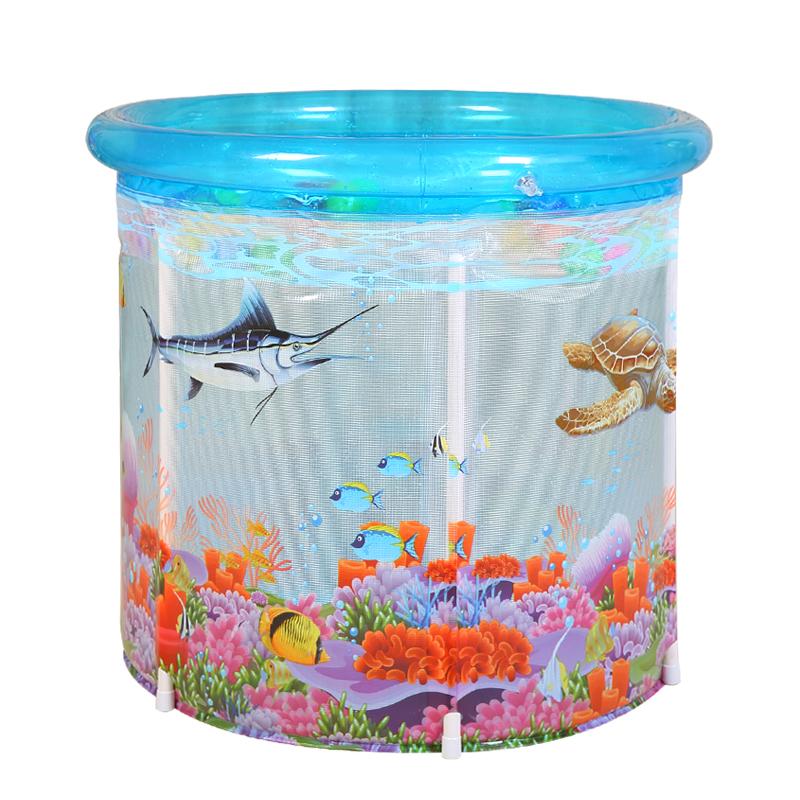 艾高婴儿游泳池家用宝宝洗澡桶幼儿保温游泳桶新生儿支架大号儿童