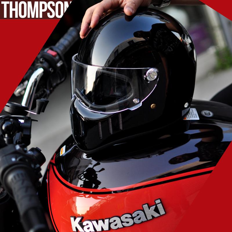 汤普森 TT&CO 2017新款 摩托车头盔 巡航幽灵骑士复古头盔 猪鼻盔