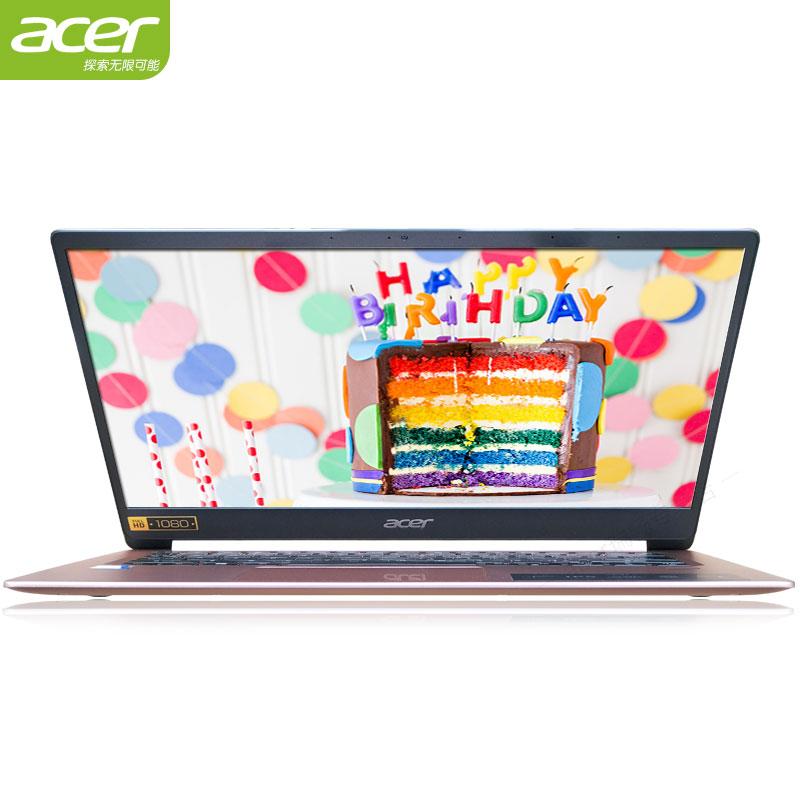 [八代四核新品上市]Acer-宏碁 蜂鸟 SF114超薄高颜值超极本14.1英寸学生轻薄便携商务手提办公女生笔记本电脑