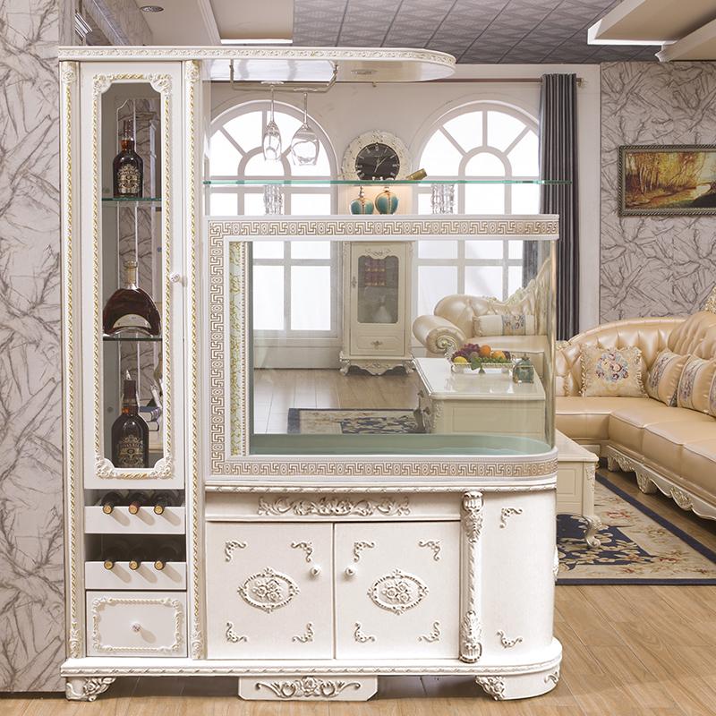 鱼缸水族箱欧式创意子弹头酒柜大中型玻璃吧台客厅屏风家用1.2米