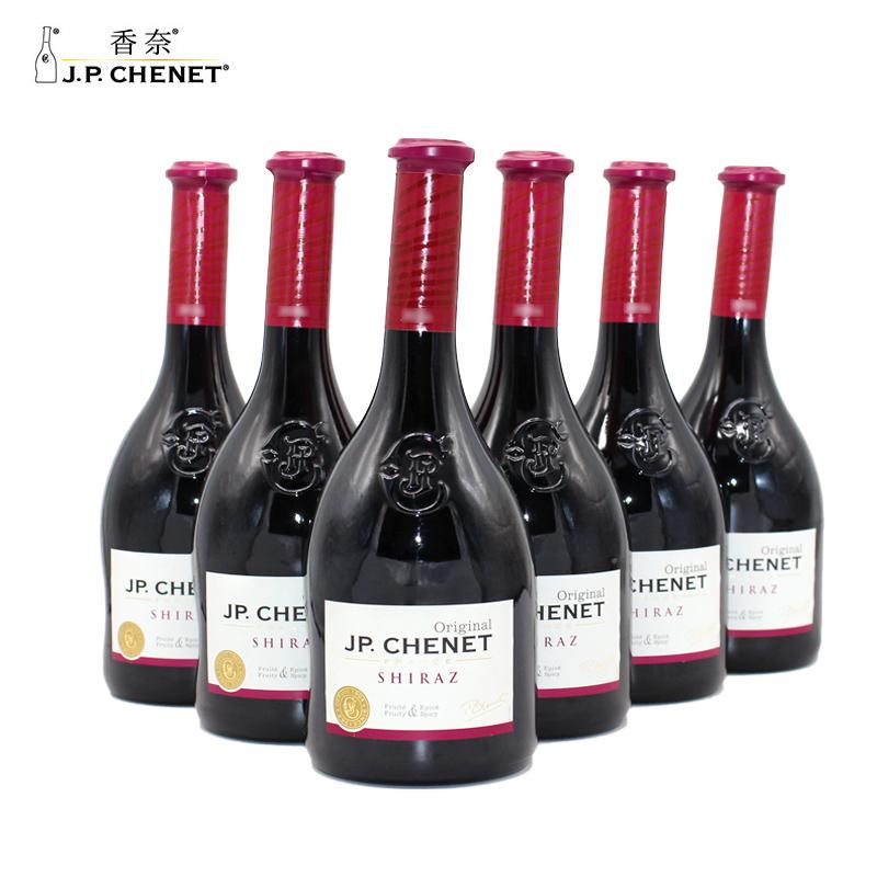 香奈歪脖红酒J.P.CHENET香奈西拉干红葡萄酒整箱6支法国原装进口