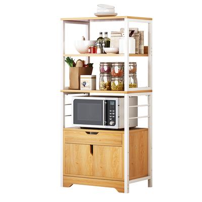 厨房用品用具小百货微波炉置物架落地多层收纳架碗柜家用经济型