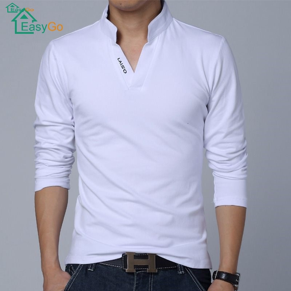 Men Leisure Cotton Tee Shirt male camisa polo t-shirts for M