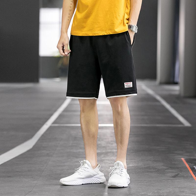 夏季男士五分休闲短裤韩版潮流宽松运动直筒港风百搭薄款沙滩裤子
