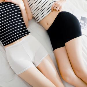 蕾丝安全裤防走光女夏薄款外穿无缝提臀大码胖mm三分打底裤保险裤