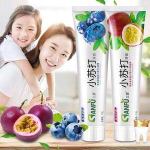 2只装小苏打牙膏水果味口气清新家庭装果香防蛀牙膏水果牙膏