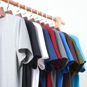 T恤短袖男士 夏季宽松白色纯色冰丝打底衫莫代尔体恤潮流圆领衣服