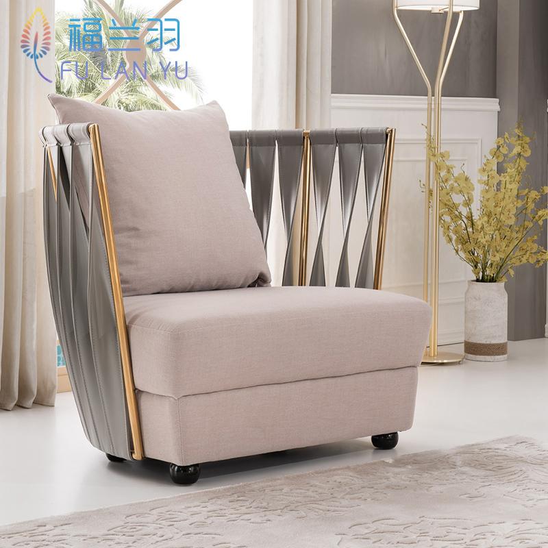 后现代布艺沙发整装客厅组合小户U型三人位简约别墅轻奢北欧家具