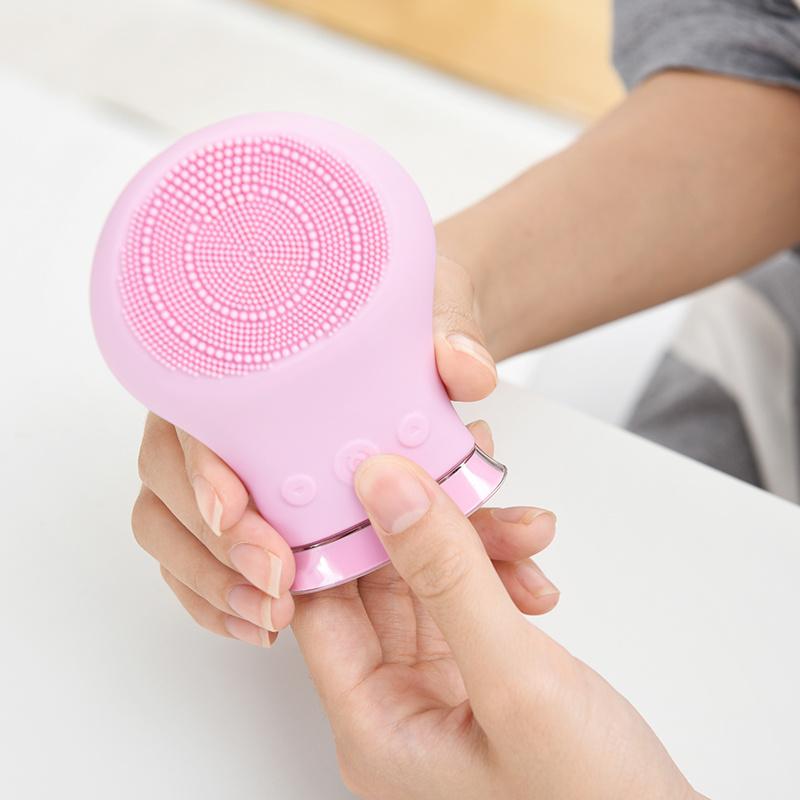 网易严选电动式硅胶洁面仪 毛孔脸部清洁充电式自动洗脸器防水