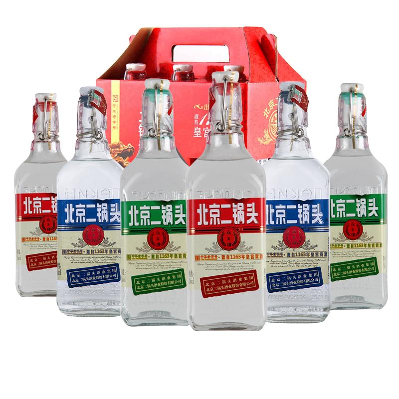 北京二锅头出口型白酒送礼整箱42度永丰牌纯粮酒500ml*6瓶礼盒装