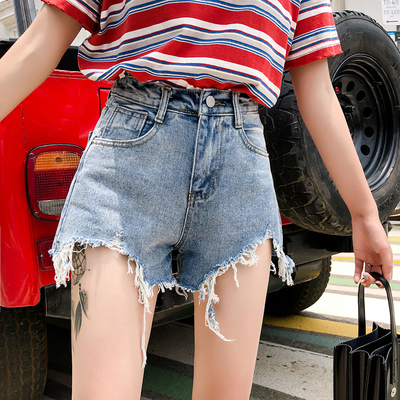 Women Fashion Woman Jeans Short Sleeves Slim Fit 258957