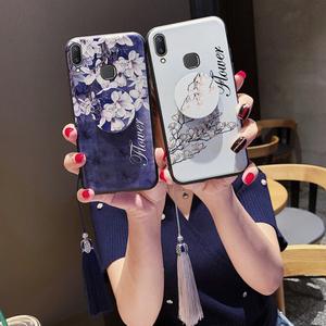 送流苏vivox23手机壳女款x20浮雕vivox9s潮x21屏幕指纹viovx防摔x9p硅胶x20plus软套x21a全包个性创意中国风l