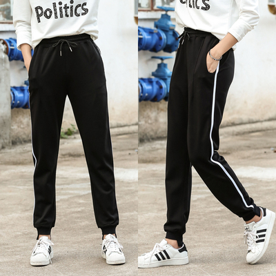 Spring loaded boy's sports pants cotton loose casual pants boy trousers big children's underwear pants large size student school pants