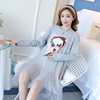 Real Shot 2018 Maternity Dress Autumn New Stitching Mesh Pregnant Women Dress Long Coat Mini Skirt