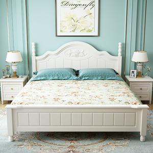 聚优美乐实木双人床1.8米韩式田园欧式公主床简约现代1.5主卧婚床