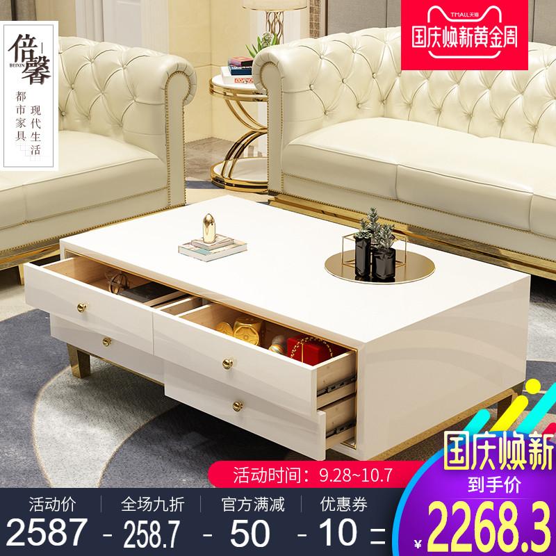 新款都市轻奢后现代小户型多功能办公茶几简约整装客厅卧室创意桌