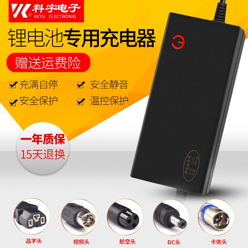 锂电池充电器48V54.6V3A4A5A2A滑板车独轮车哈雷电动车车大功率